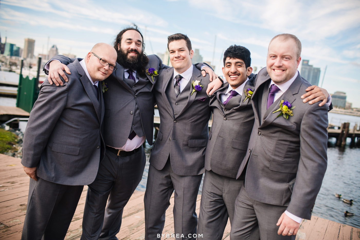 Baltimore wedding photo groom and groomsmen