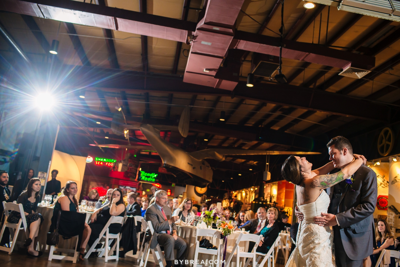 Baltimore wedding photo bride and groom first dance