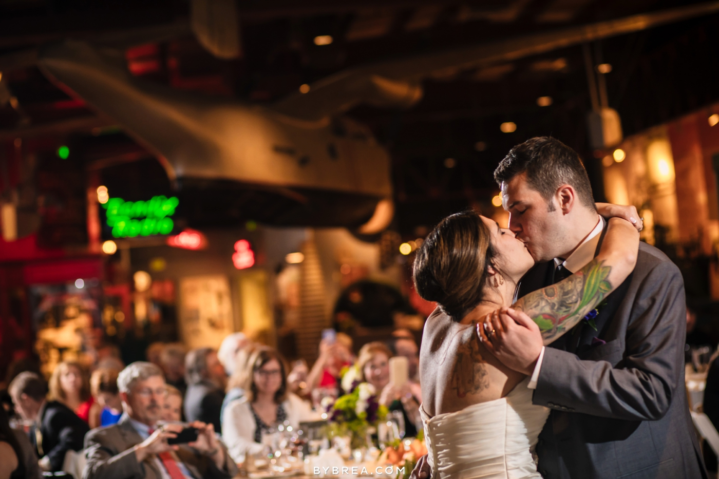 Baltimore Museum of Industry wedding photo first dance