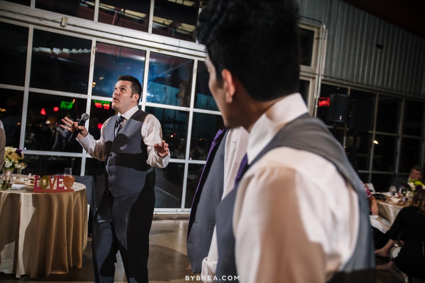 Baltimore wedding photo groom dancing at reception