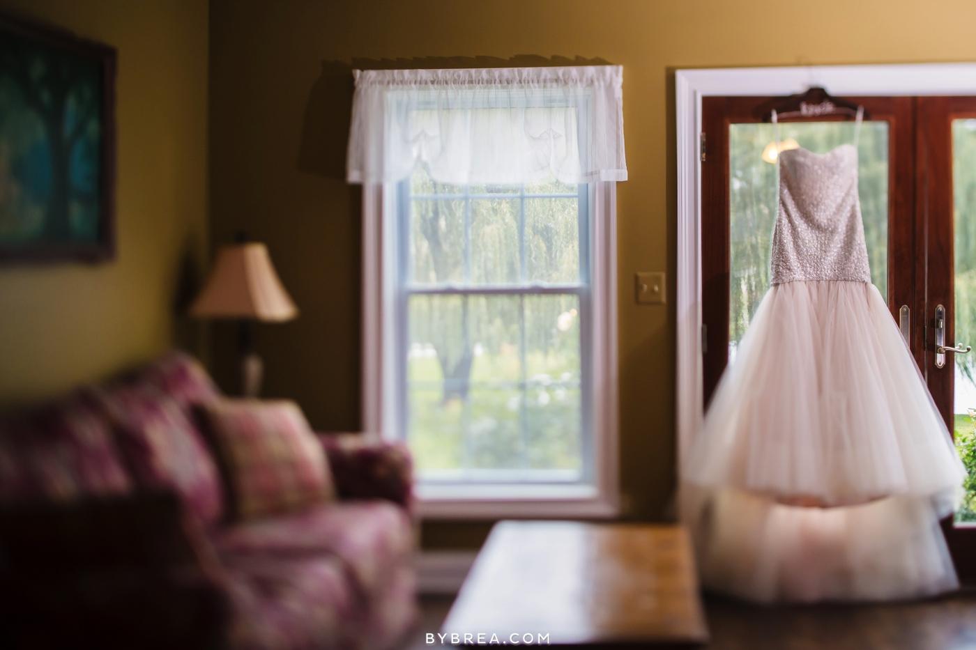 Hannah Meredith Pond View Farm same sex wedding Bride dress