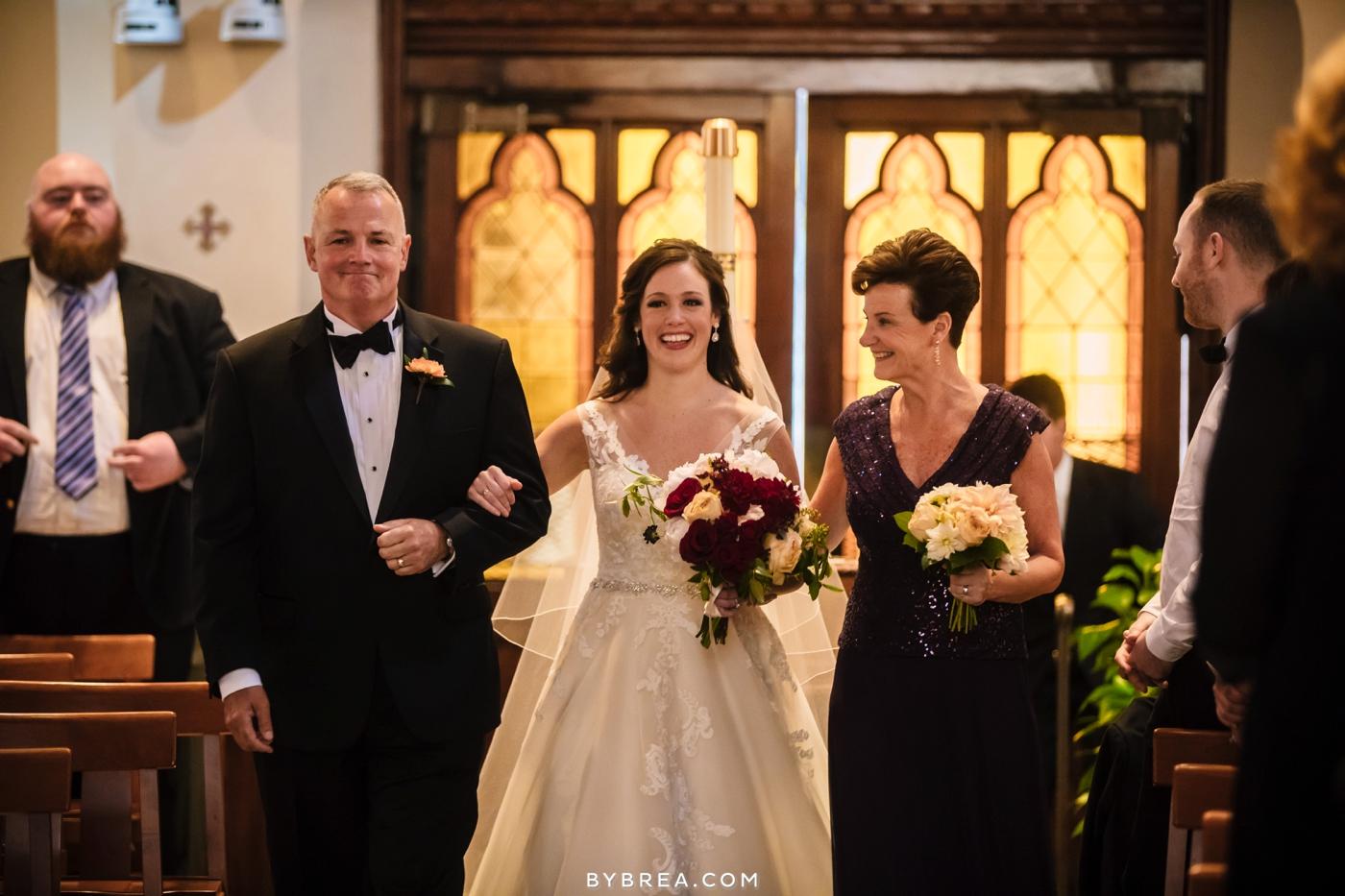 Georgetown Dahlgren Chapel bride walked down aisle