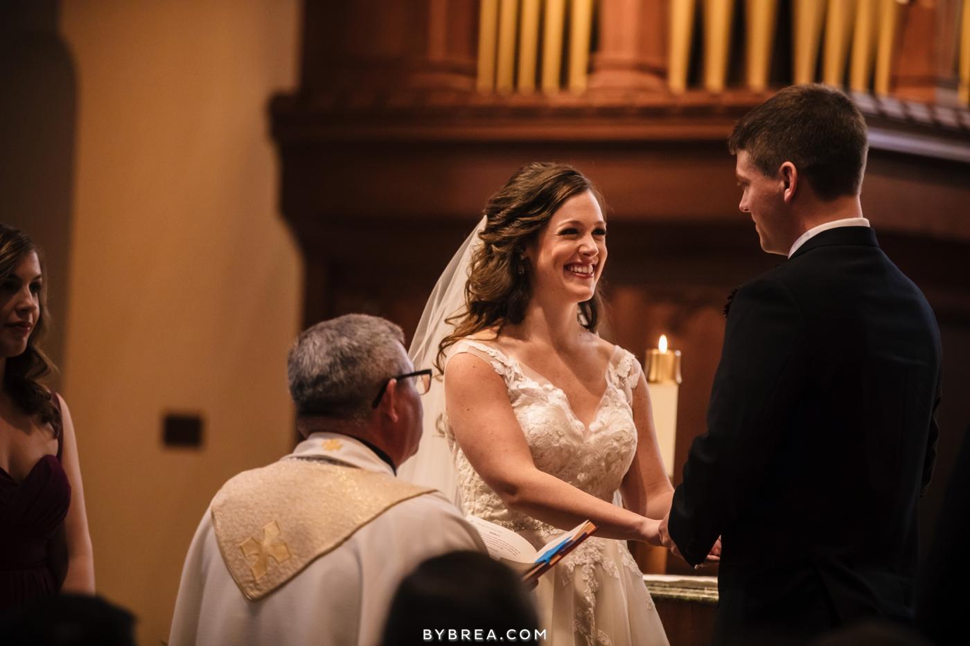Dahlgren Chapel wedding ceremony bride and groom