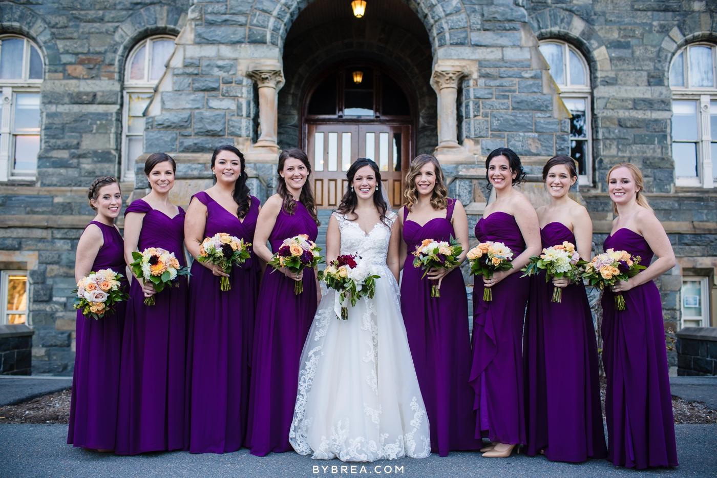 Georgetown Dahlgren Chapel bride and bridesmaids