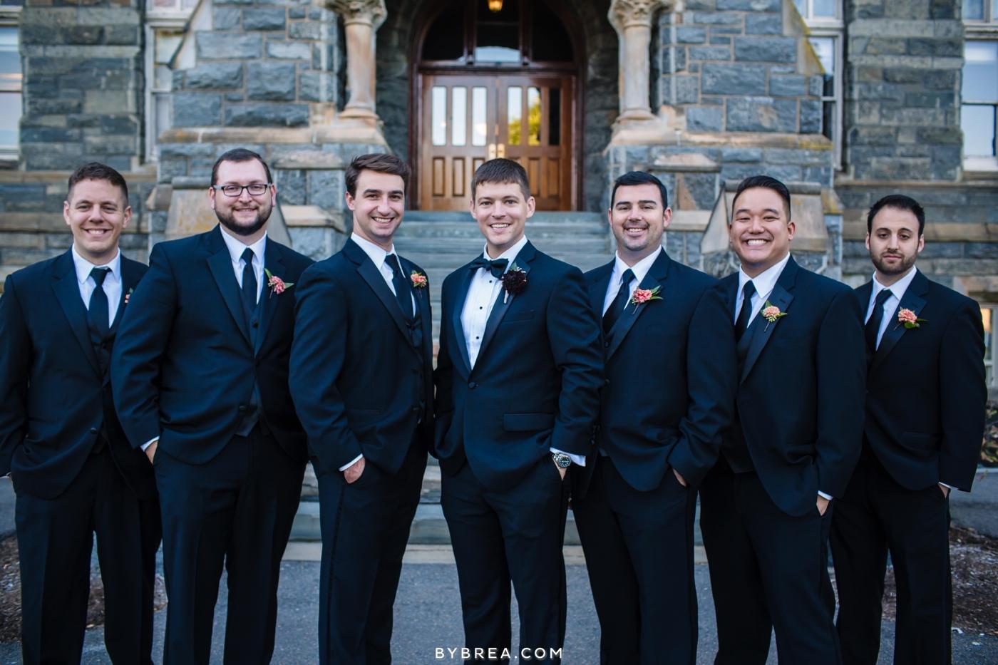 Georgetown Dahlgren Chapel groom and groomsmen