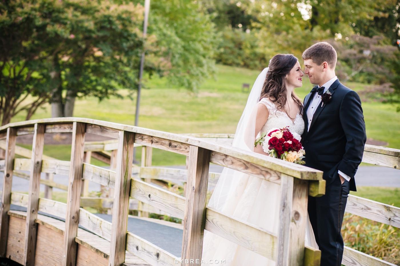 Baltimore wedding bride and groom nose to nose