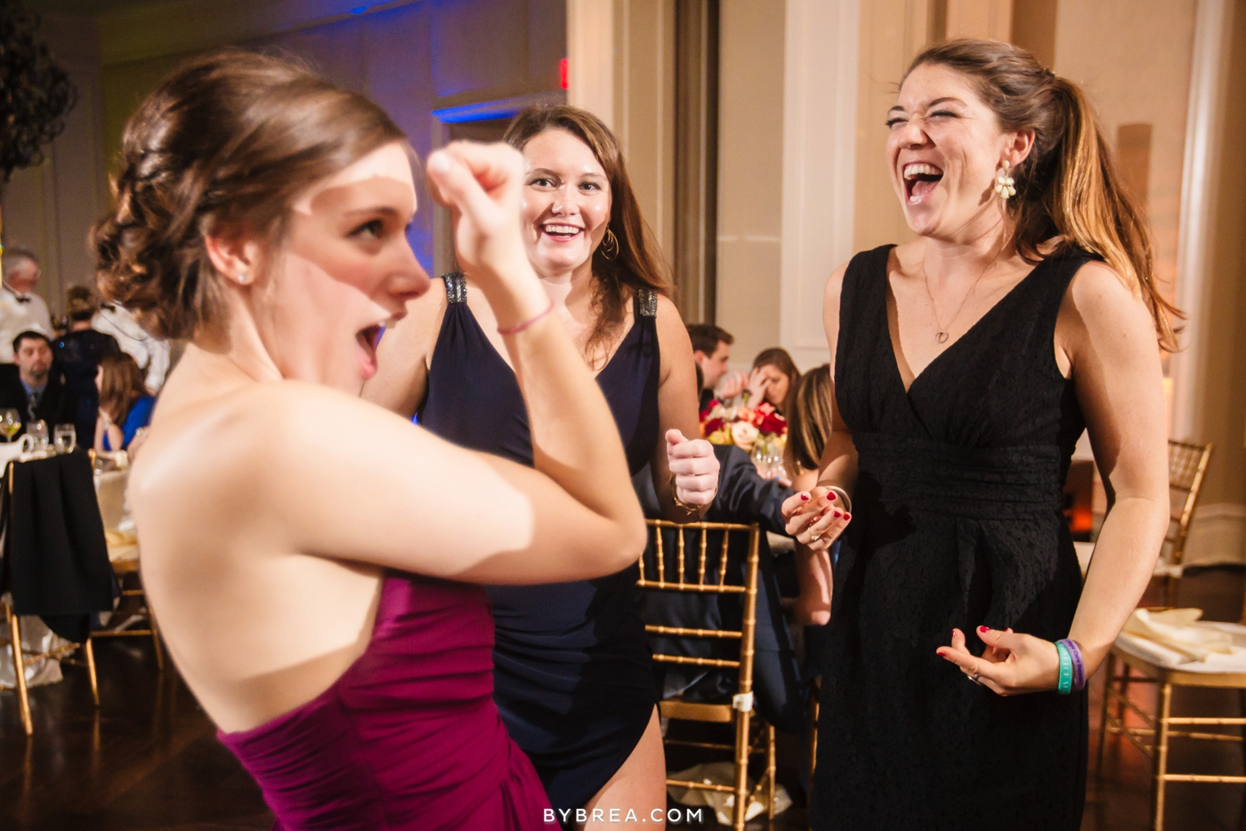 Army Navy Country Club wedding guests getting excited
