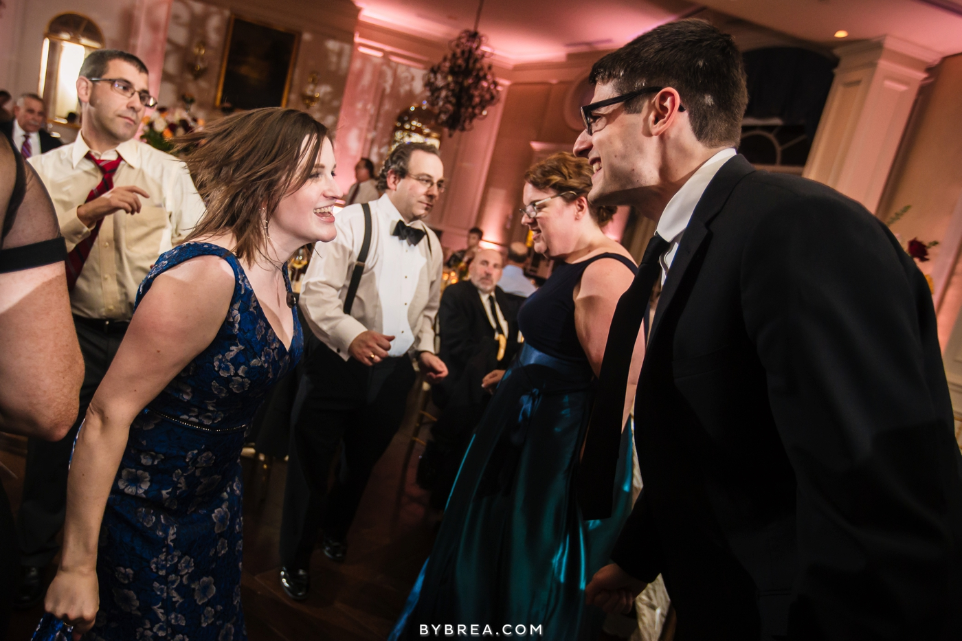 Army Navy Country Club wedding guests dancing together