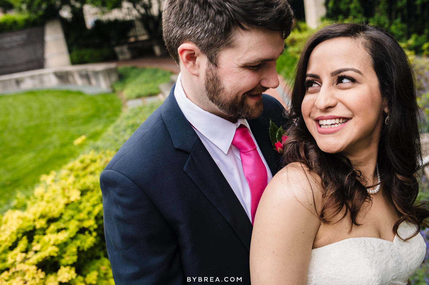 George Peabody Library wedding photo bride and groom portrait
