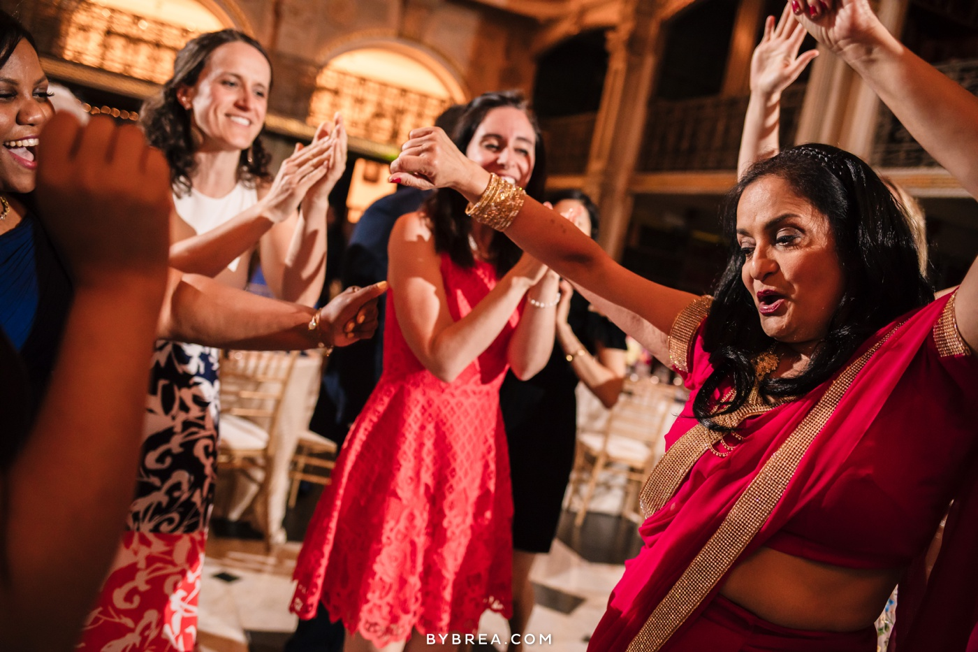 George Peabody Library wedding photo guests dancing to DJ Jordan Solender