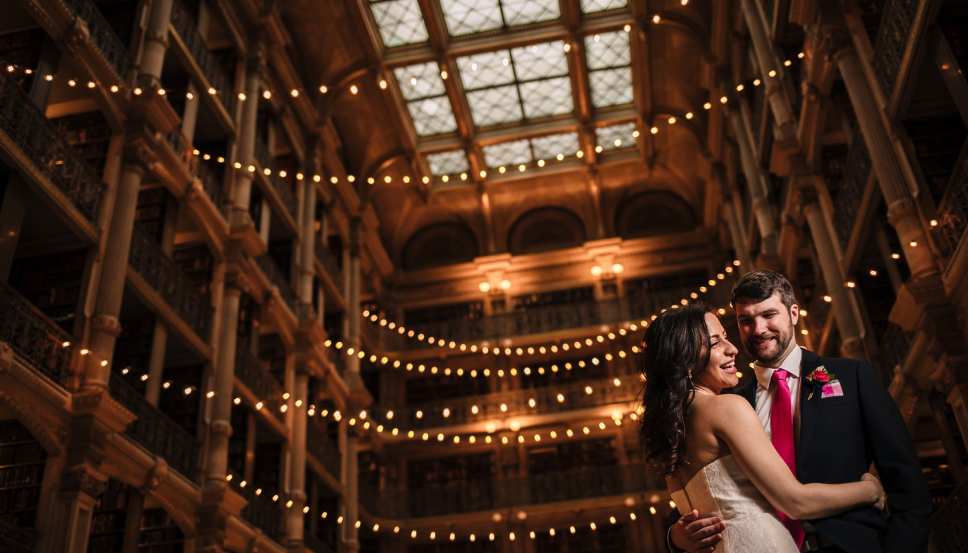 George Peabody Library wedding photo