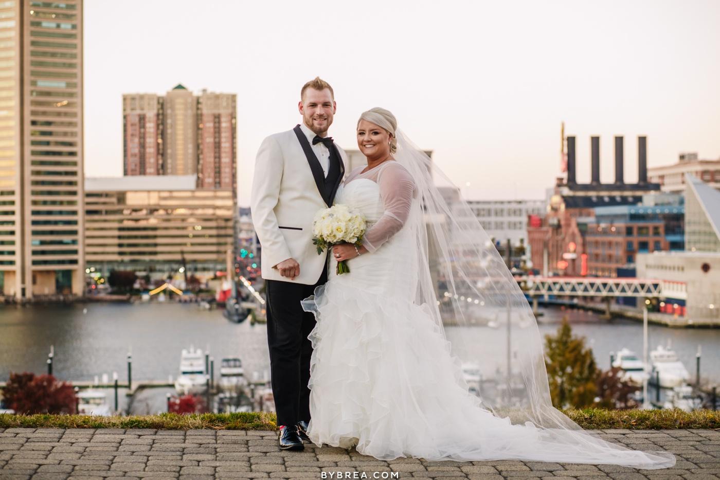 Bride and groom portraits Federal Hill wedding