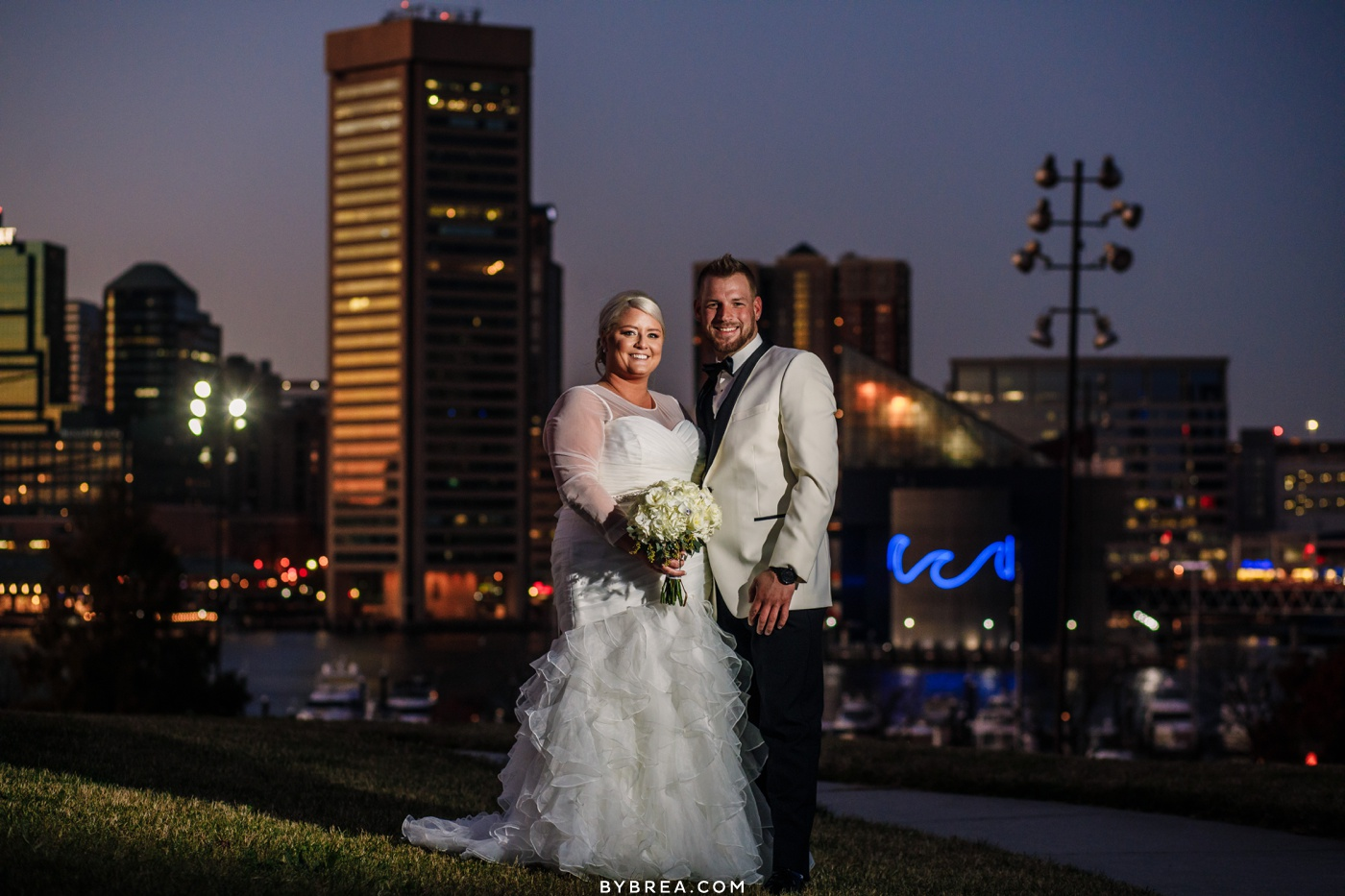 Photo of couples portraits night time Fed Hill Baltimore