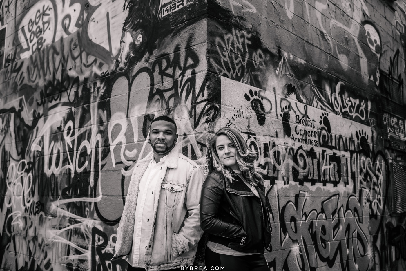 Engagement photos Graffiti Alley Baltimore