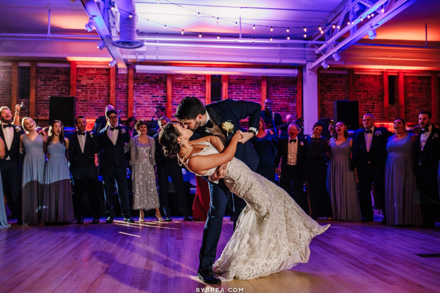 Wedding at American Visionary Art Museum photo bride and groom first dance