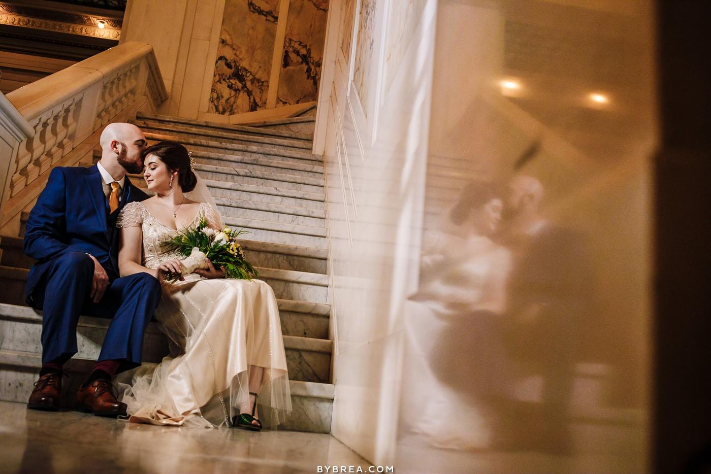 Wedding portrait Baltimore wedding Kimpton Hotel Monaco