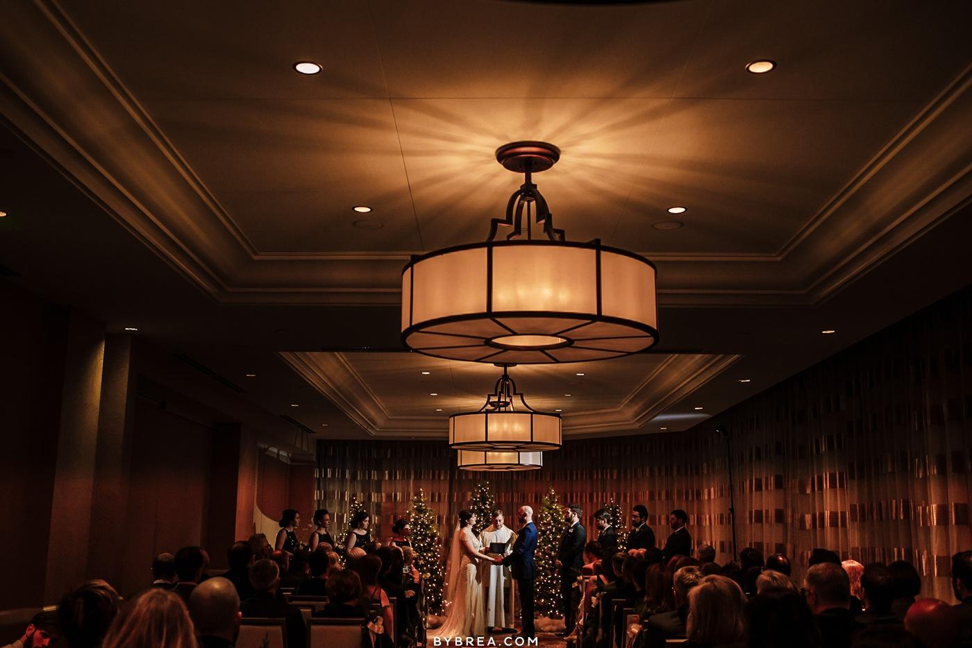 Winter wedding Kimpton Hotel Monaco Baltimore