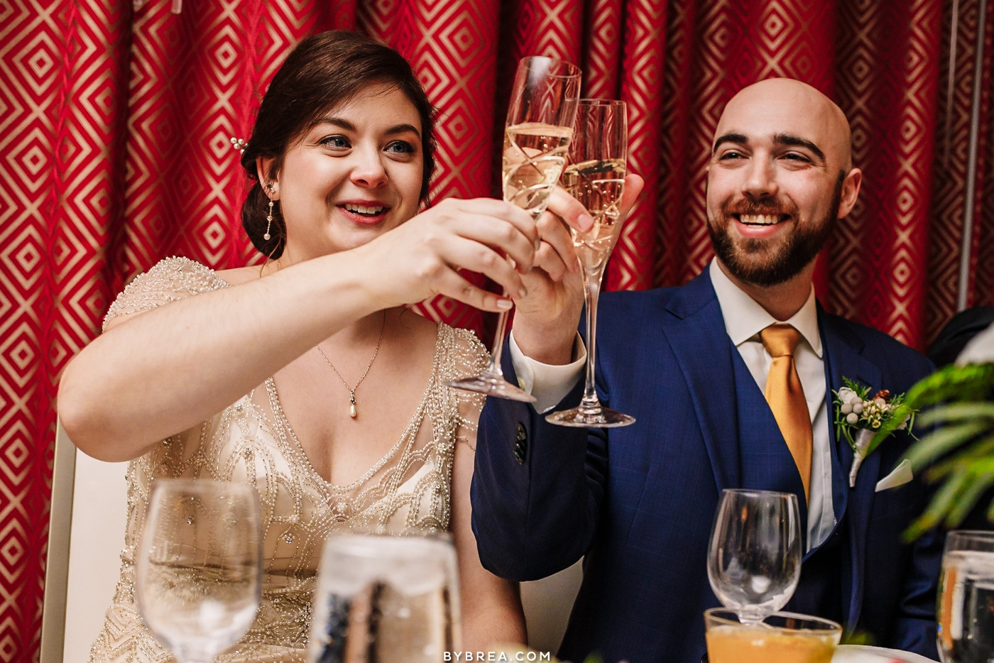 Photograph of reception Baltimore wedding Kimpton Hotel Monaco