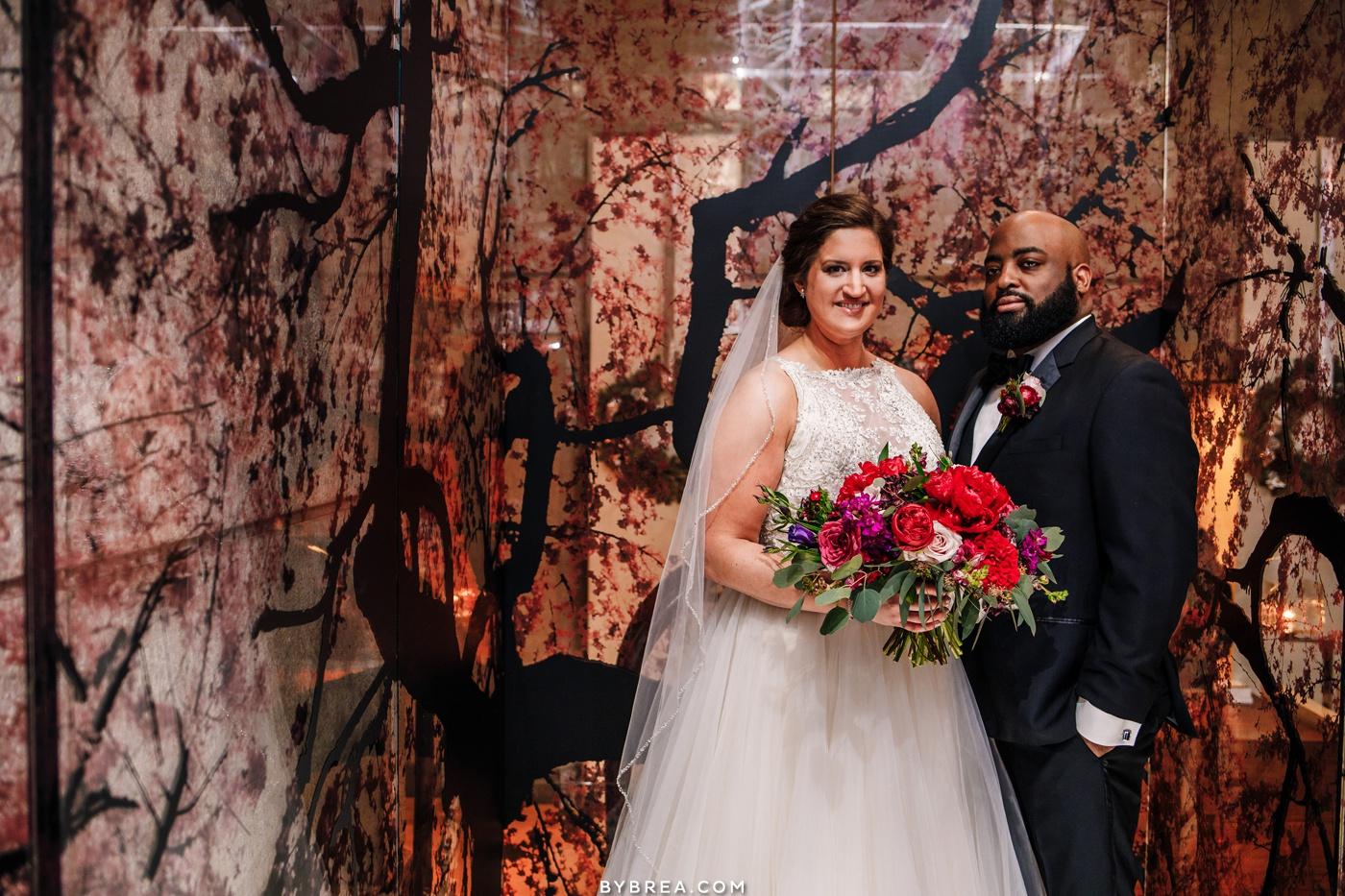 Portrait of bride and groom Park Hyatt Washington D.C.