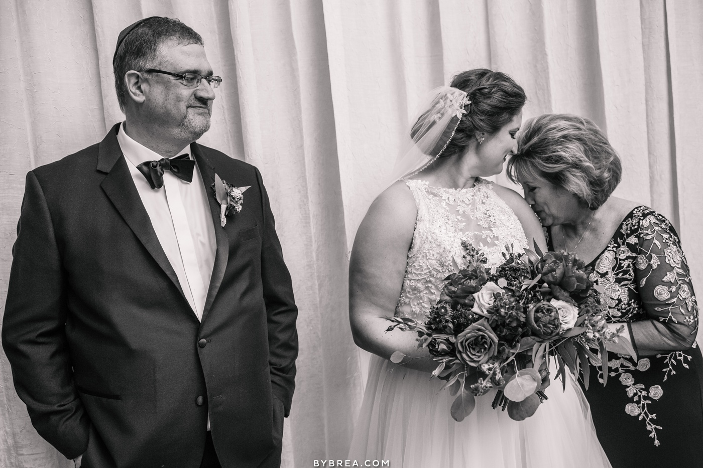Emotional moment between mother and bride before ceremony starts at Park Hyatt D.C.