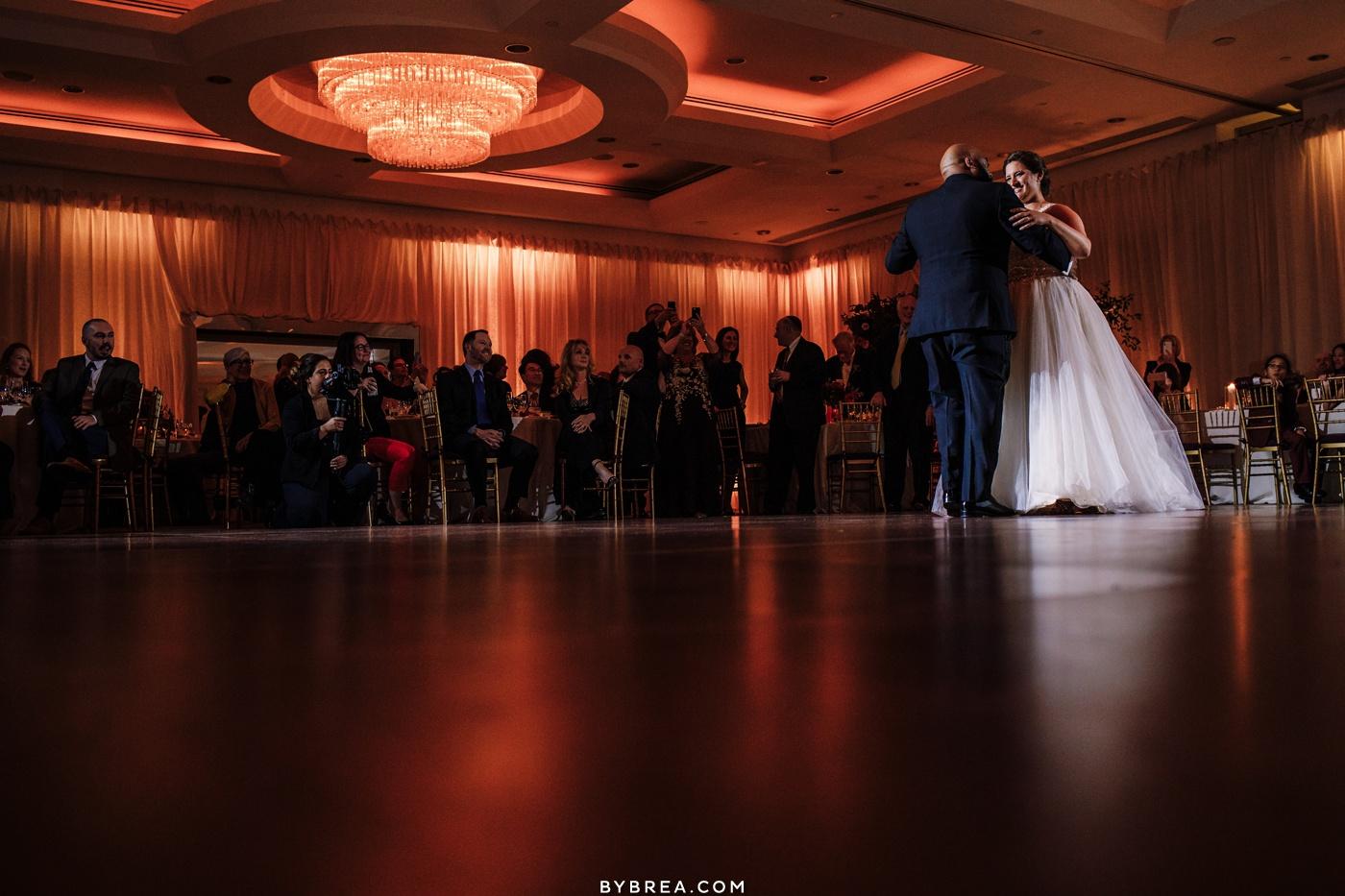 Photograph of first dance Washington D.C. wedding Park Hyatt