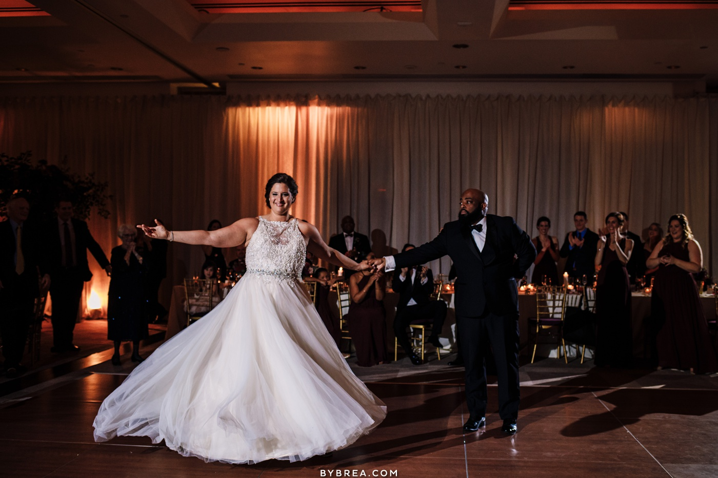 Park Hyatt wedding first dance bride and groom Washington wedding
