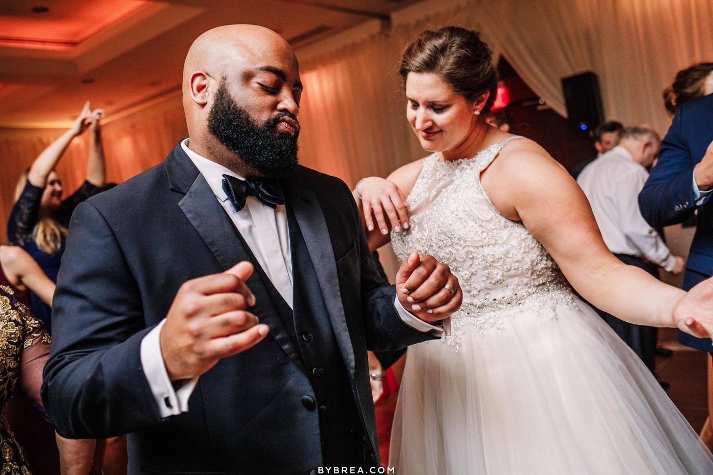 Reception photo of bride and groom dancing at Park Hyatt D.C.
