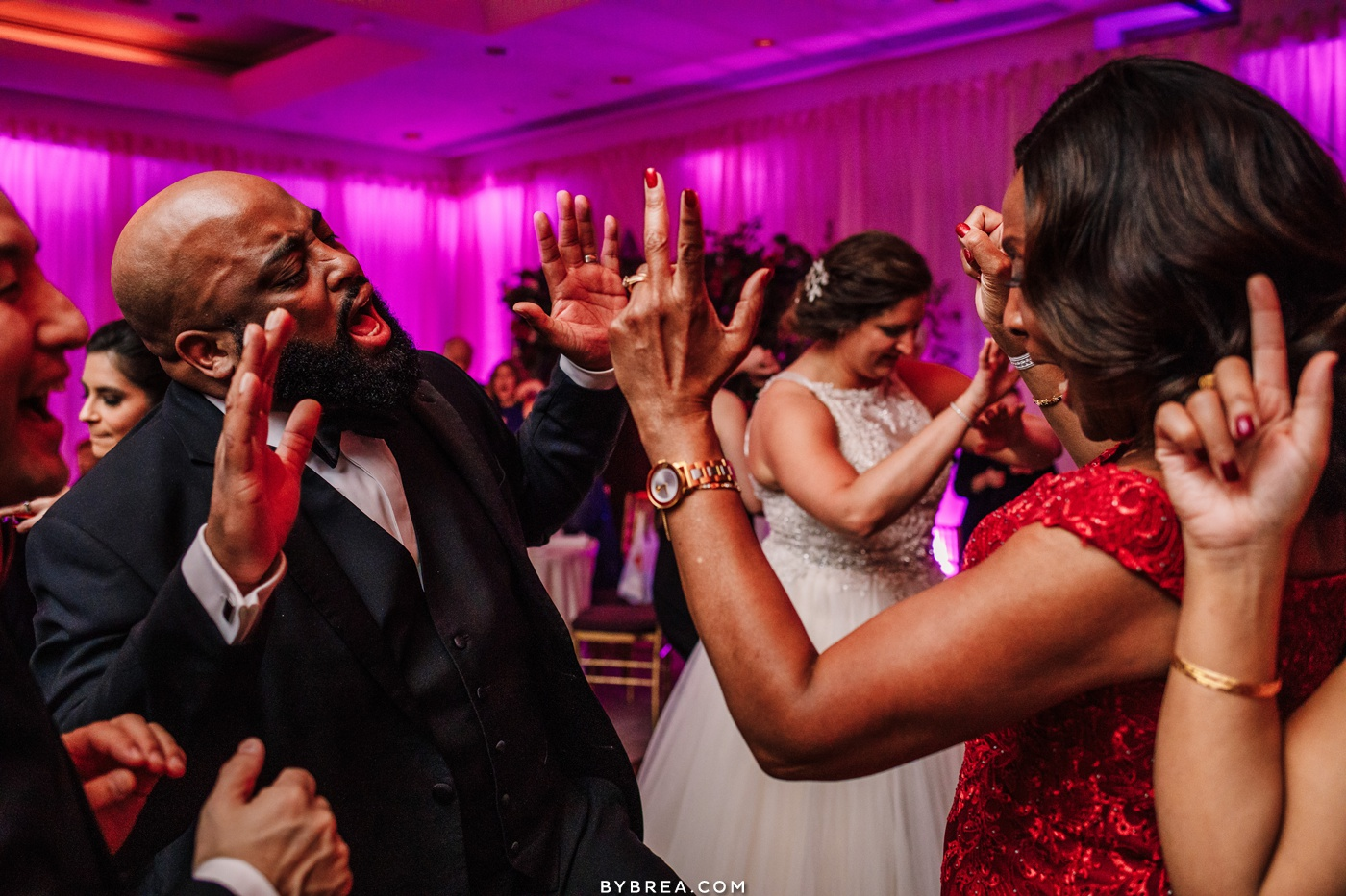 Photo of groom and mother dancing during reception Washington D.C. wedding