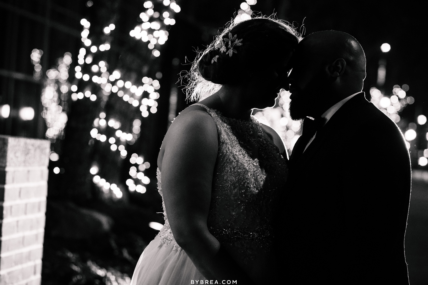 Night time portraits of bride and groom D.C. wedding Park Hyatt