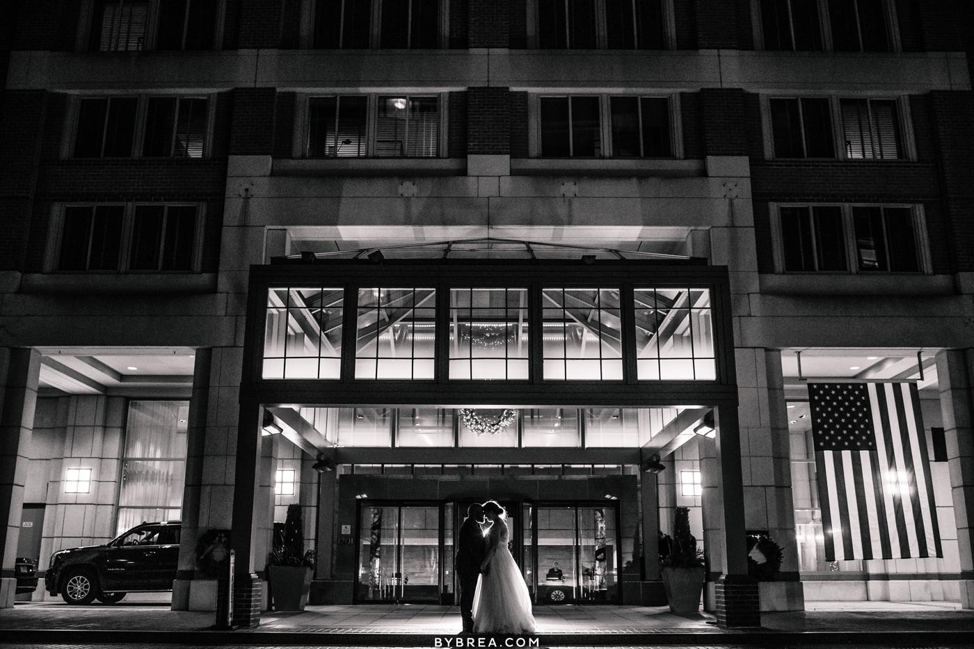 Evening portraits at Park Hyatt Washington D.C. wedding