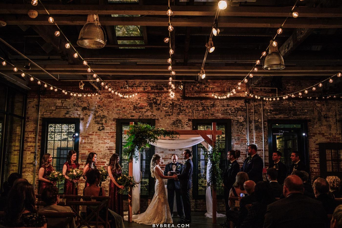Mt. Washington Mill Dye House ceremony Baltimore wedding