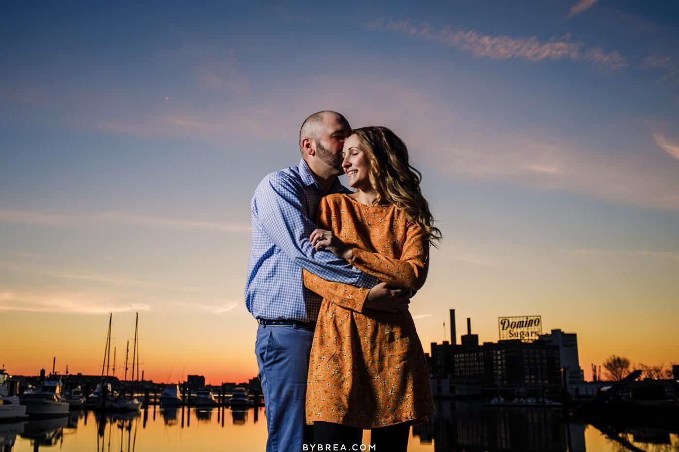 Sunrise engagement photo Fed Hill