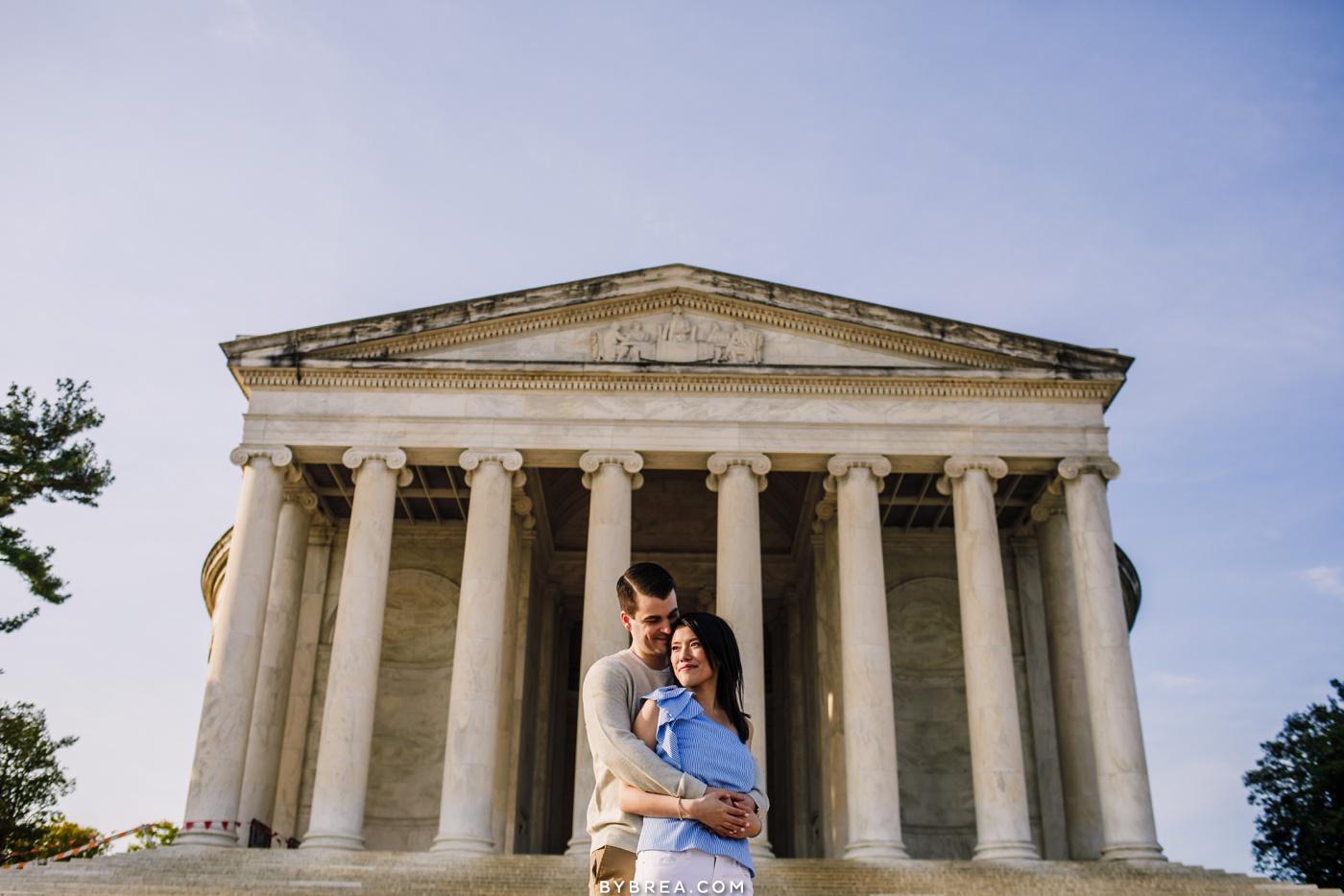 D.C. Monument engagement photo