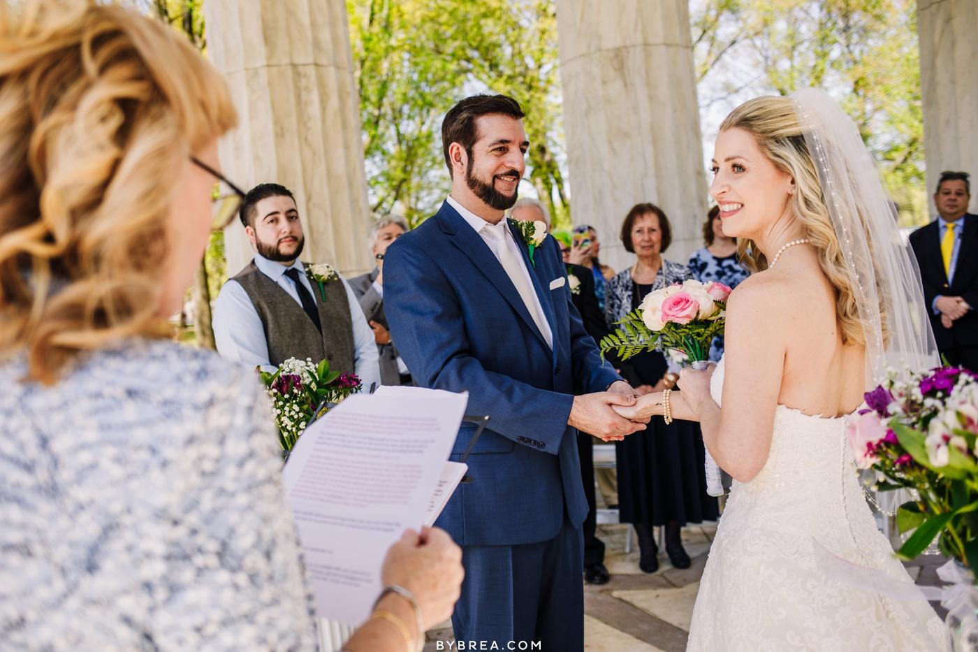 Wedding ceremony D.C. War Memorial