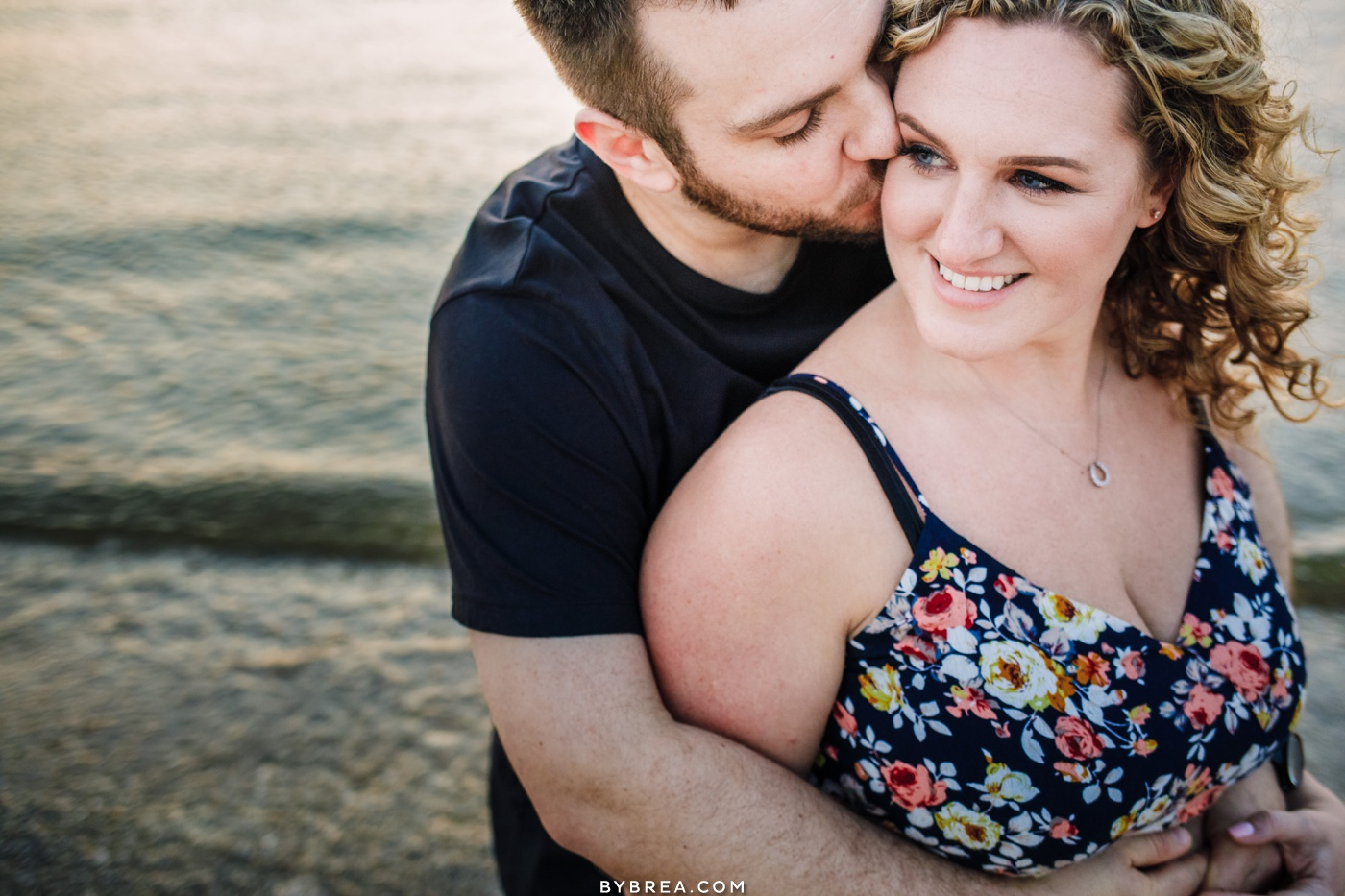 Sunset engagement picture Eastern Shore