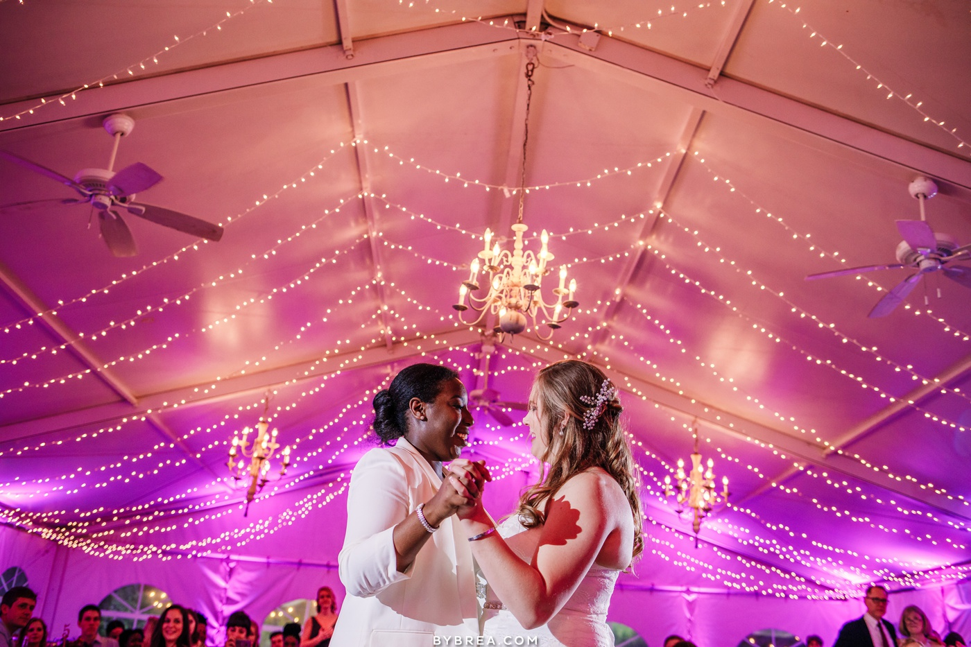 Wedding photo at The Elkridge Furnace Inn first dance