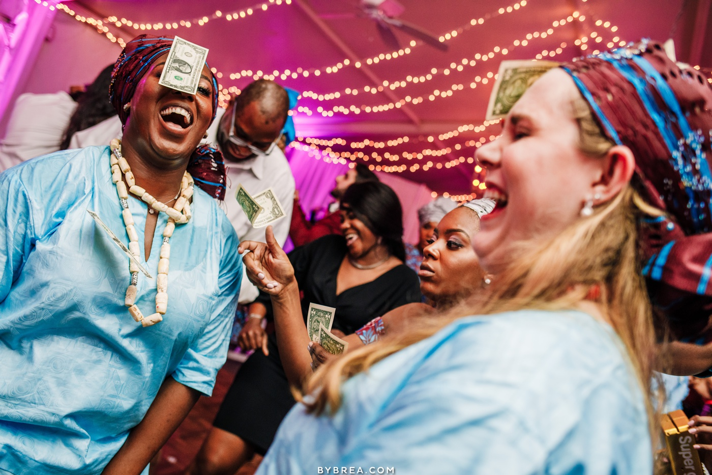 Photograph of the Nigerian dollar dance LGBT wedding at The Elkridge Furnace Inn