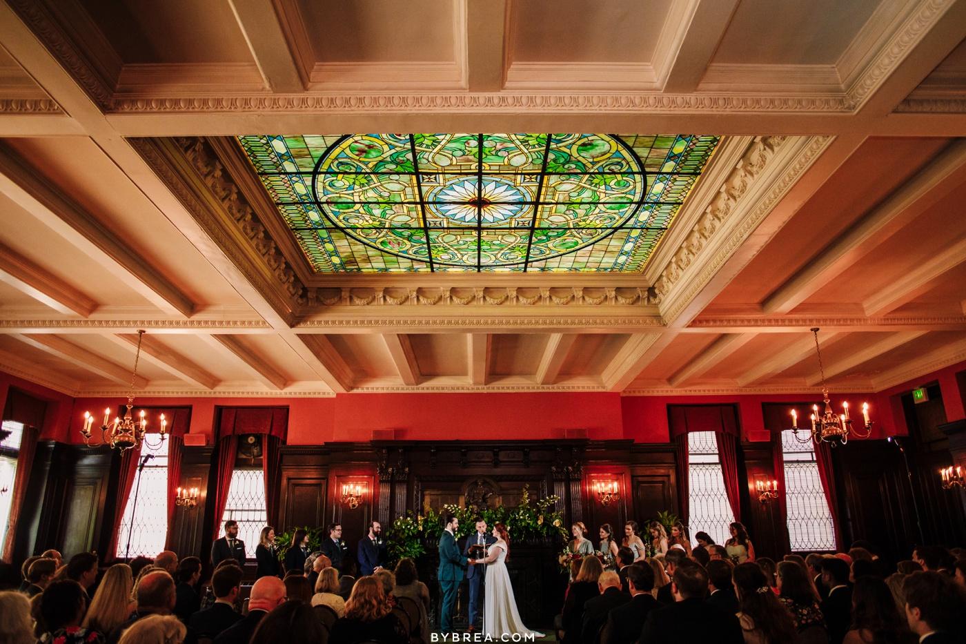 Baltimore wedding photo of Maryland Club ceremony