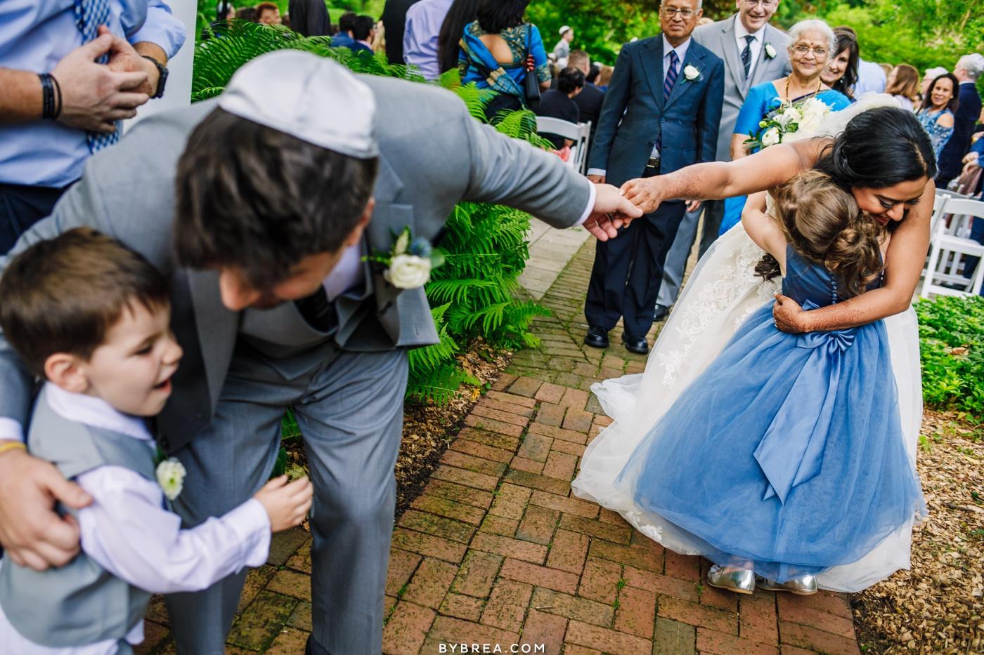 Photo of bride and groom leaving ceremony at Elkridge Furnace Inn Baltimore