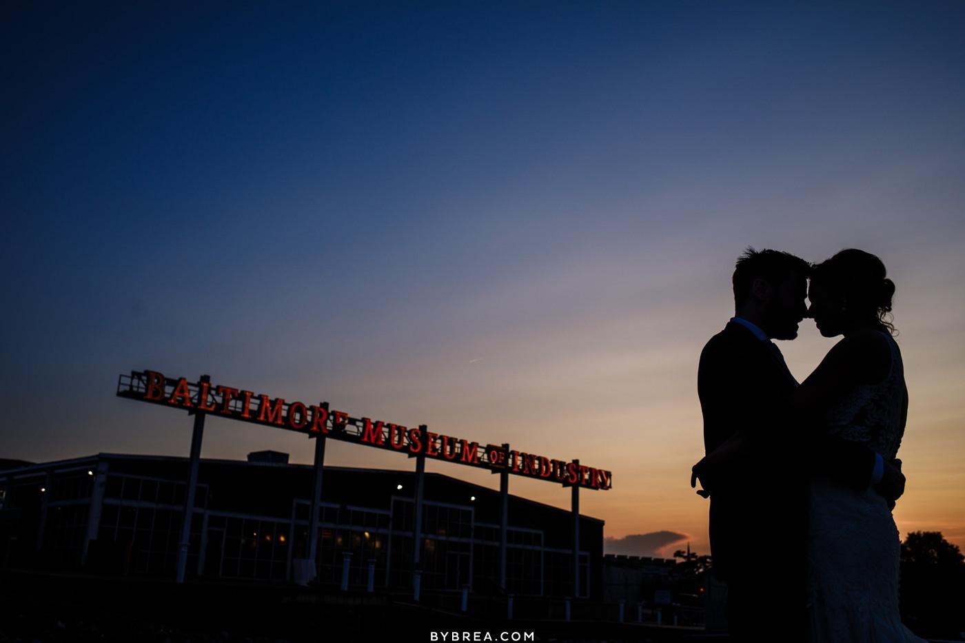 Silhouette sunset photo Baltimore wedding