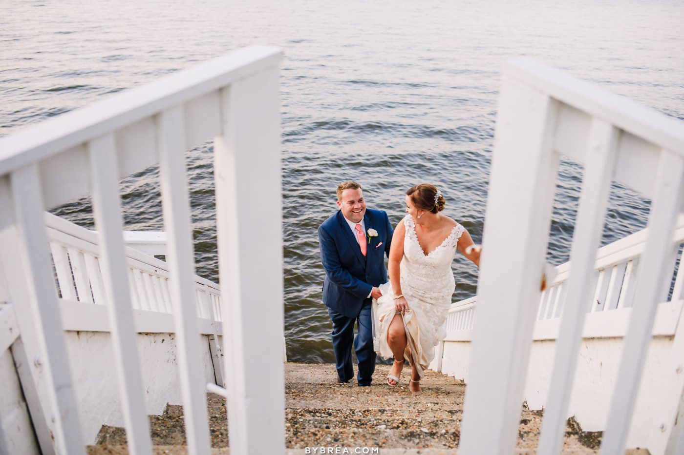 Celebrations at the bay wedding portrait by Photography by Brea