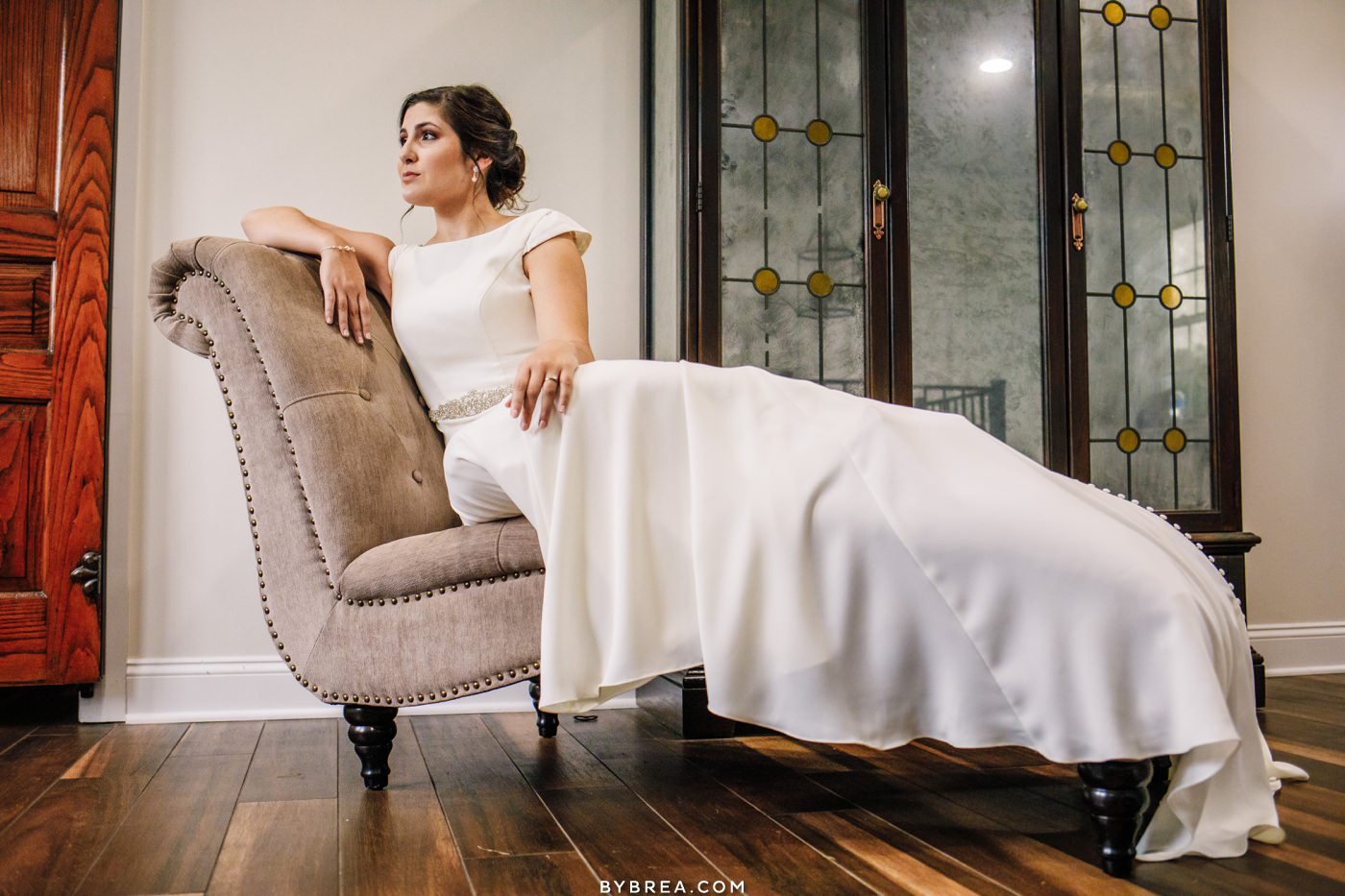 Beautiful bridal portrait at Pond View Farm
