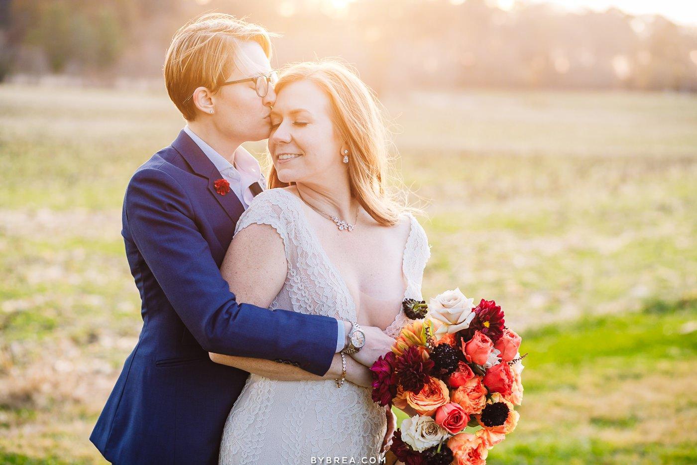 Tusculum Farm wedding portrait during same sex wedding Baltimore wedding photography