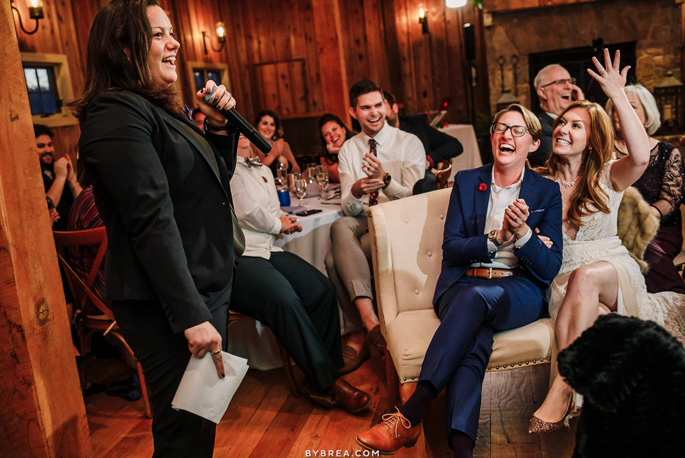 Candid moment during LGBTQ wedding Baltimore wedding photography