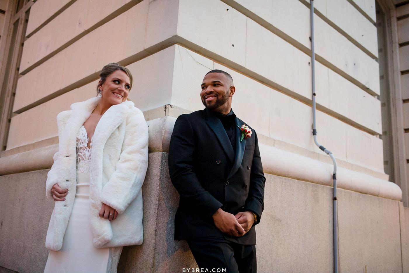 Bride and groom portraits Belvedere wedding