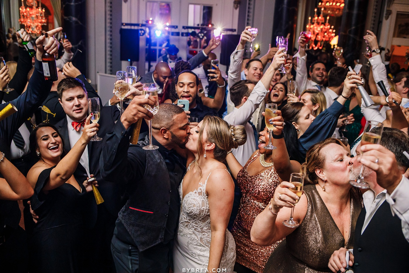 Best of 2019 Baltimore Wedding Photography New Year's Eve Midnight Kiss