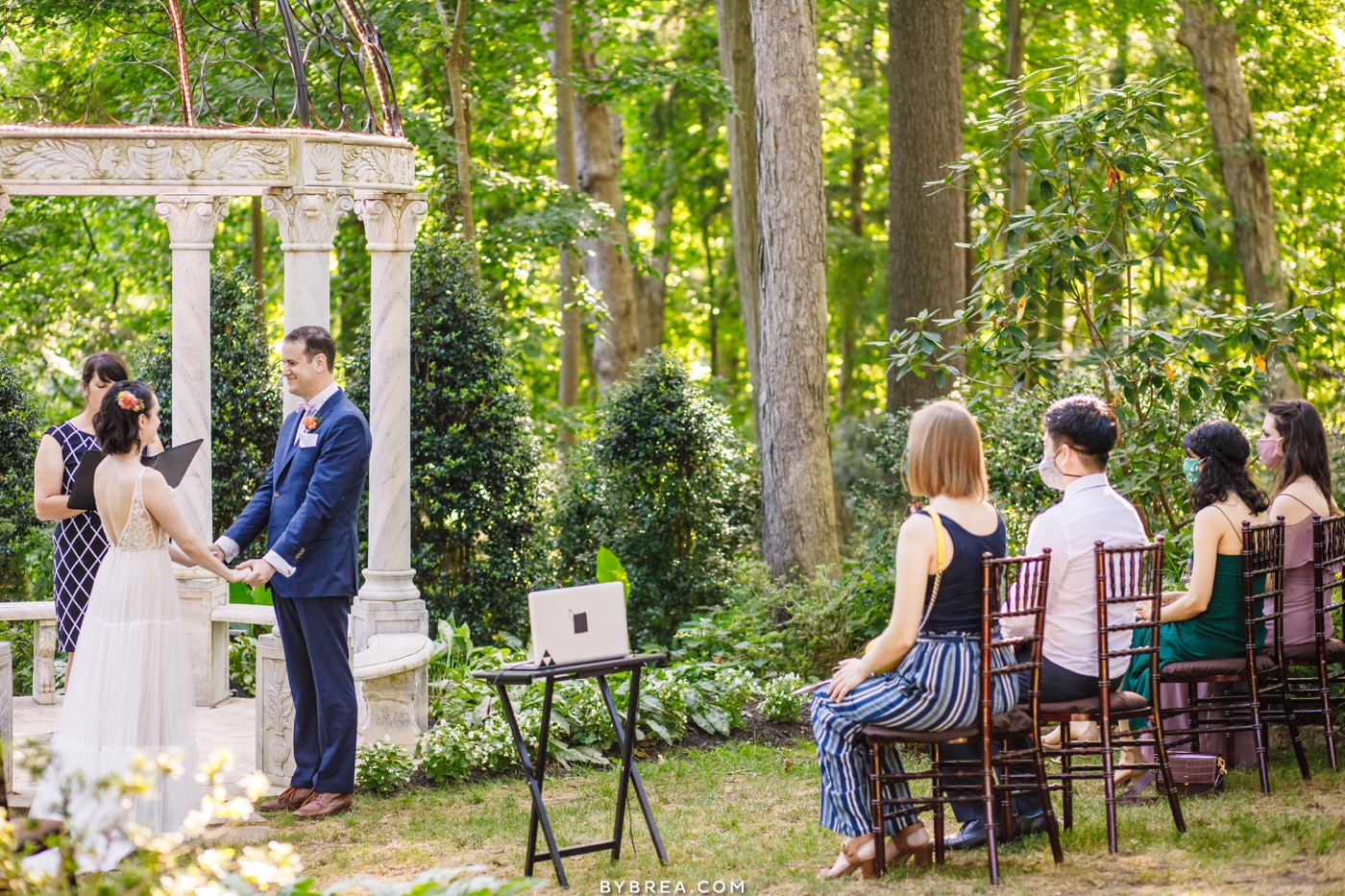 Outdoor ceremony at Gramercy Mansion