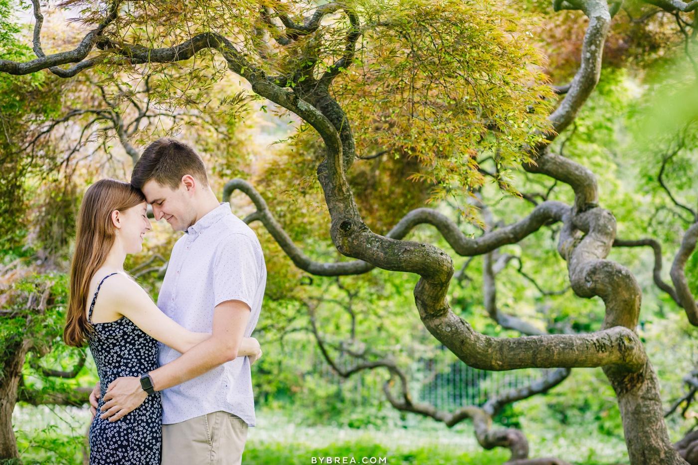 cylburn arboretum engagement photos