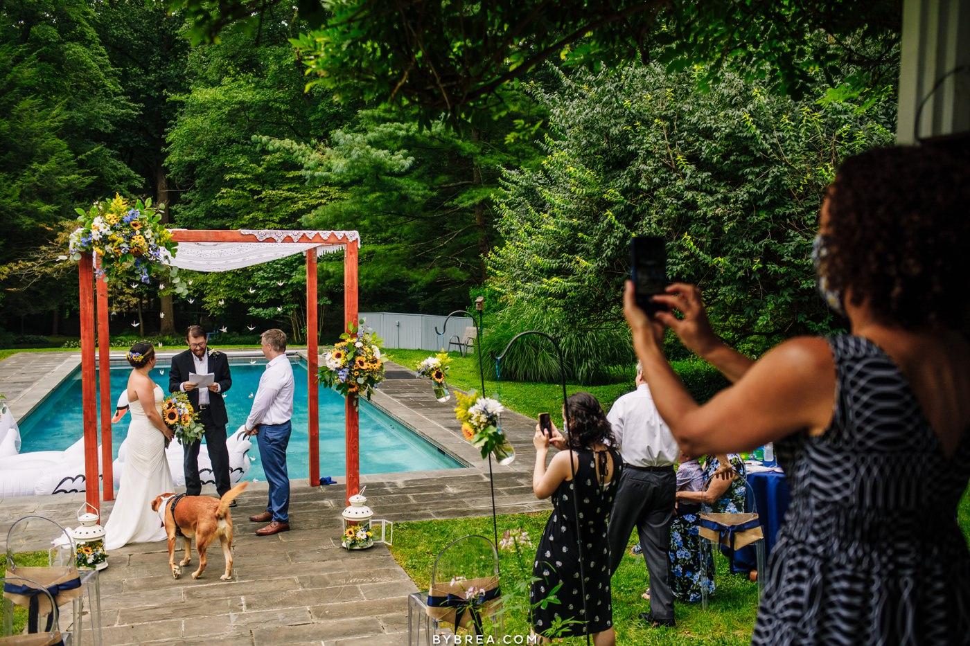 backyard microwedding photos