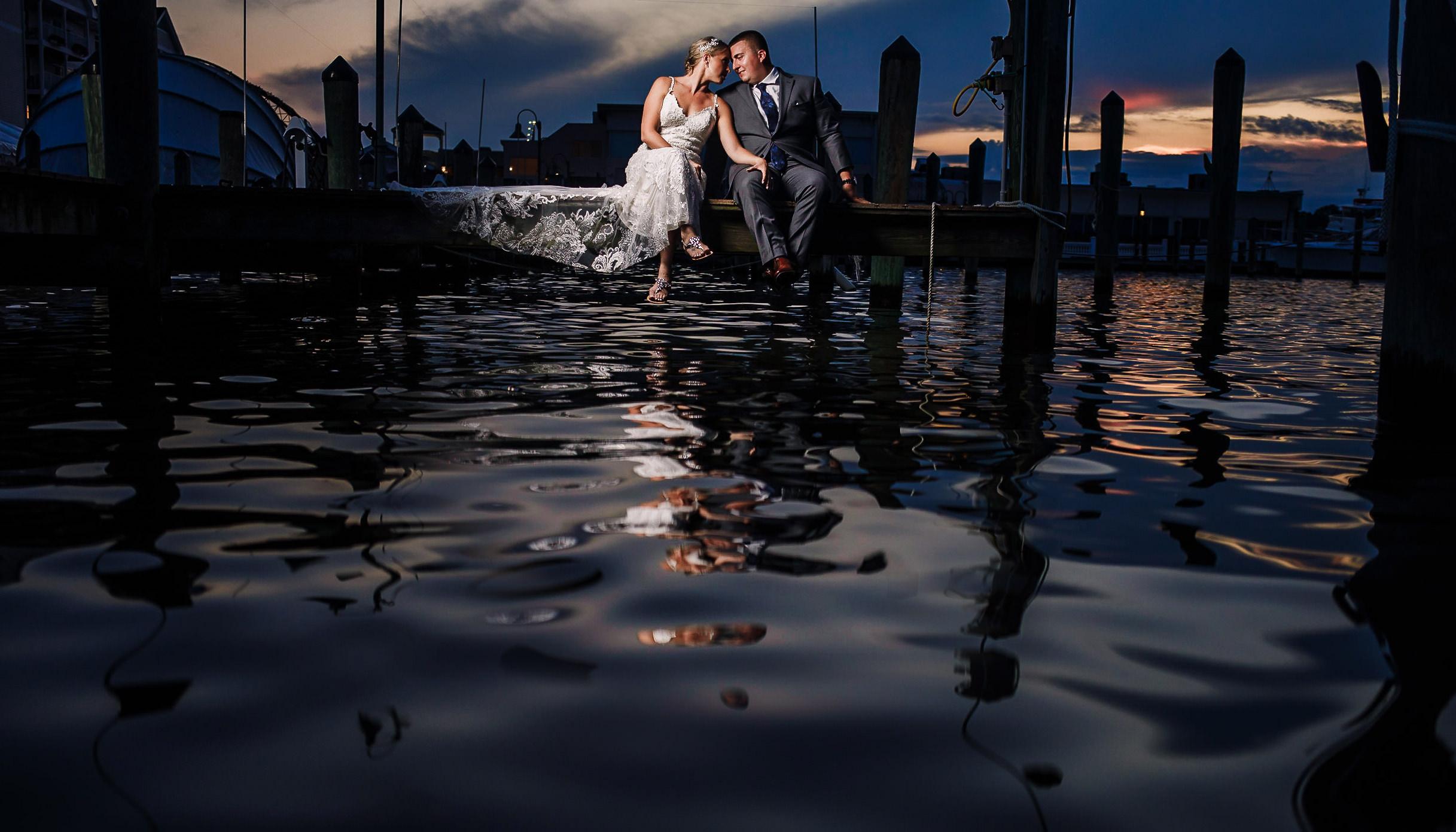 rod n reel resort wedding photo